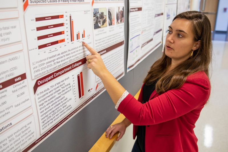 Whitney Tatem is pictured presenting the results of her research.