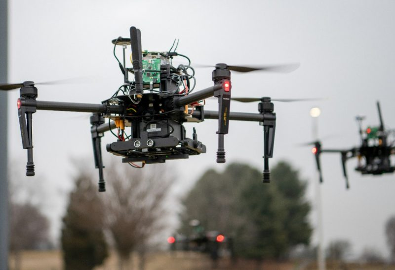 Picture of drones at the Virginia Tech drone park