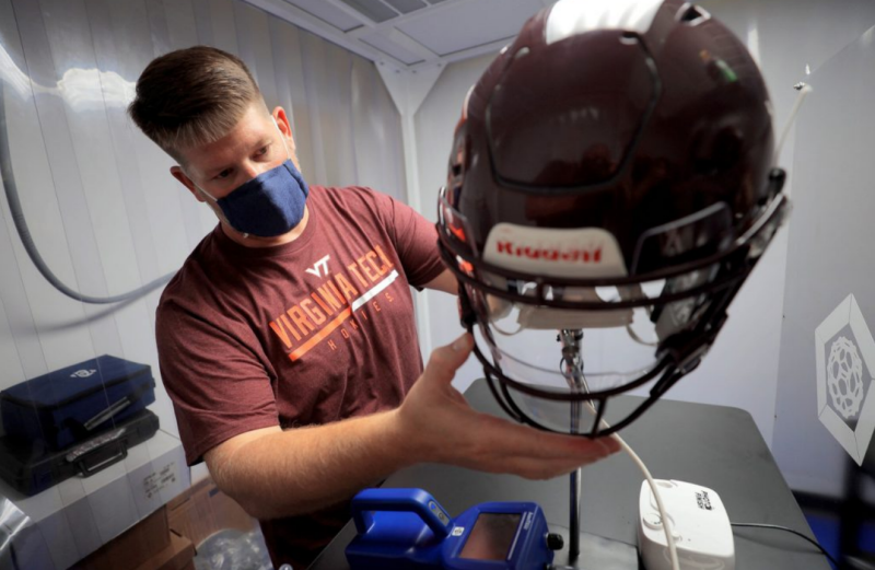 Custom face shields aim to block droplets, tackle COVID-19 for football players